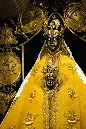 Stock Photo: 1566-1060282 Pilgrimage to Santiago de Compostela: Black Virgin at the Cathedral of Le Puy en Velay, Haute-Loire, Auvergne, France