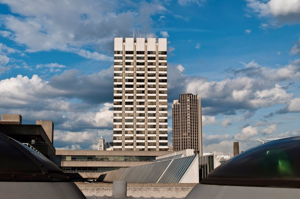 Stock Photo: 1566-1060481 High rise office block, Southbank,, London, UK