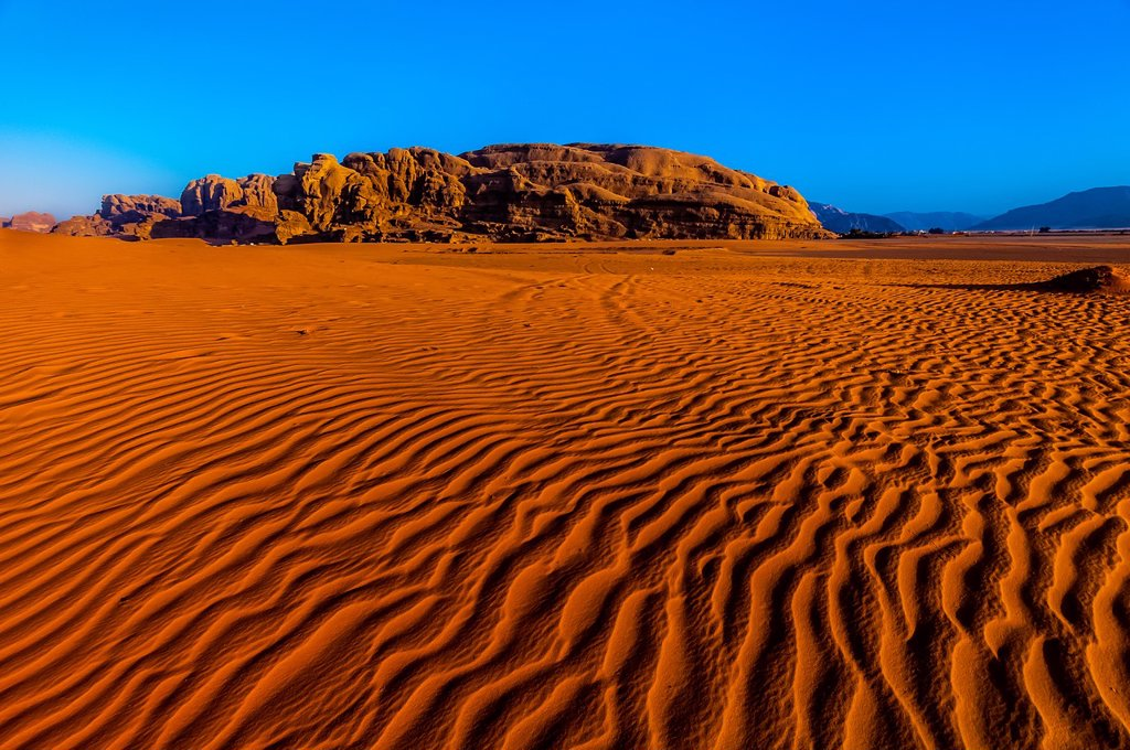 Arabian Desert at Wadi Rum, Jordan : Stock Photo