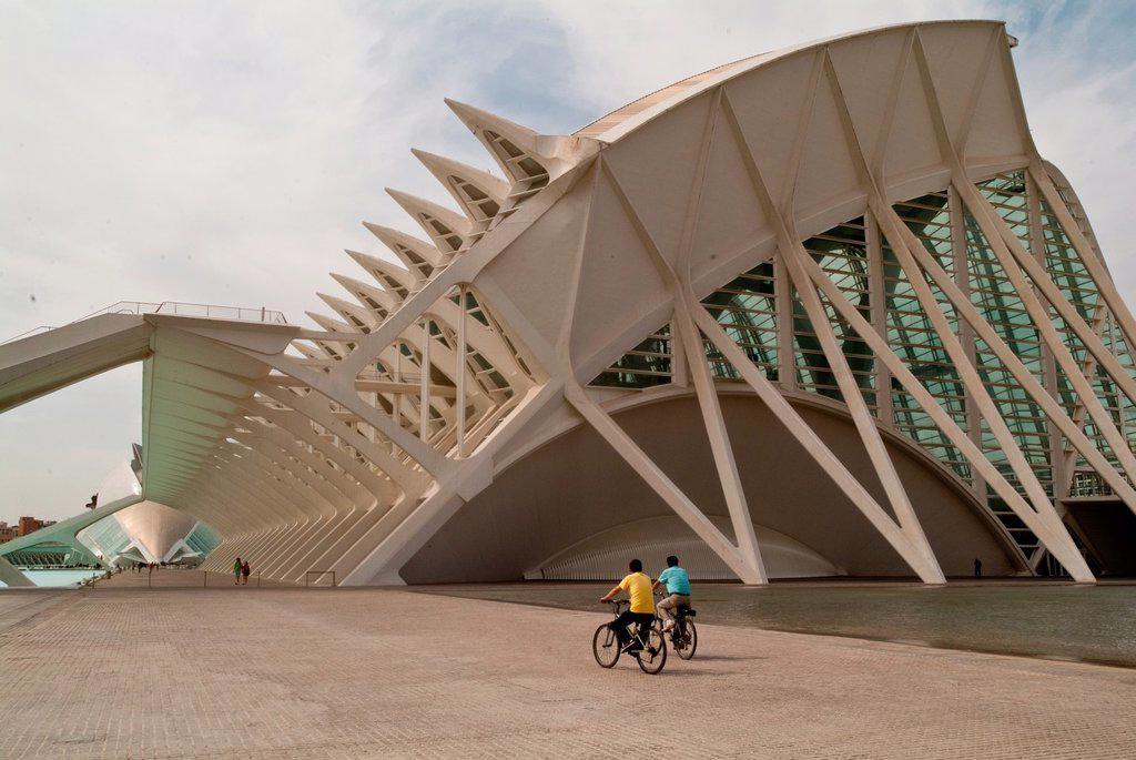 Principe Felipe Musseum, of City of arts and Sciencies, of Valencia, Spain : Stock Photo