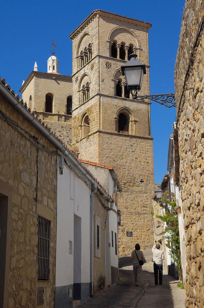 Stock Photo: 1566-1062195 Church of Santa Maria la Mayor, Trujillo, Caceres province, Extremadura, Spain, Europe