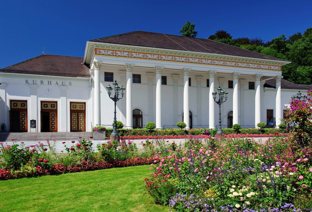 The Casino and the Kurhaus in Baden-Baden : Stock Photo