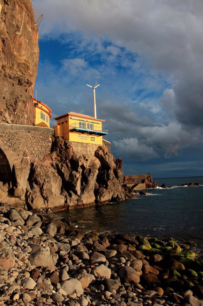 A Restaurant with spectacular view at Ponta do Sol, Madeira, Portugal : Stock Photo