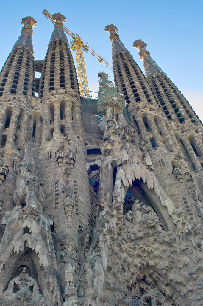 Stock Photo: 1566-1064551 The Sagrada Familia, Barcelona, Spain.