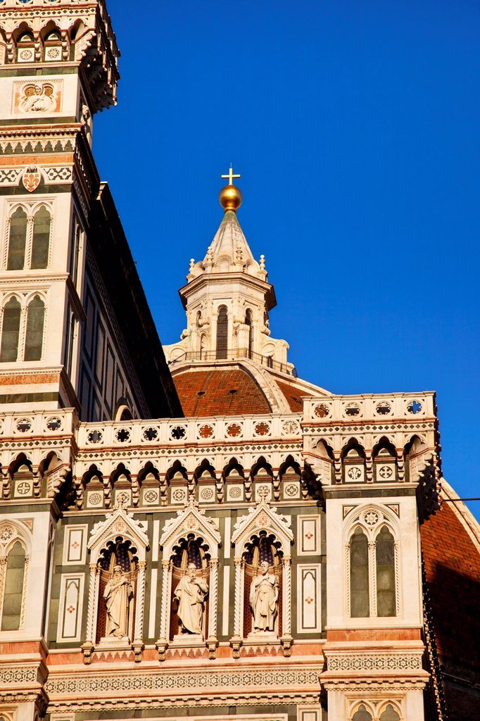 Stock Photo: 1566-1065419 Setting sunlight on the Duomo, Santa Maria del Fiore in Florence Tuscany Italy