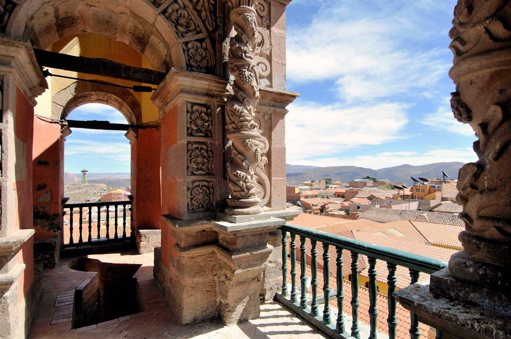 Stock Photo: 1566-1065462 View from the Torre de la Compañía, Potosí, Bolivia
