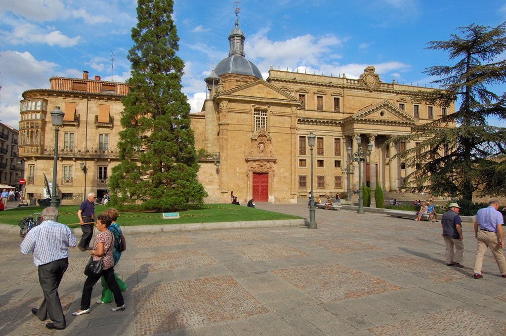 Stock Photo: 1566-1066076 Anaya Palace (now Faculty of Philology, University of Salamanca), Plaza de Anaya (Anaya Square), Salamanca, Castilla Leon, Spain