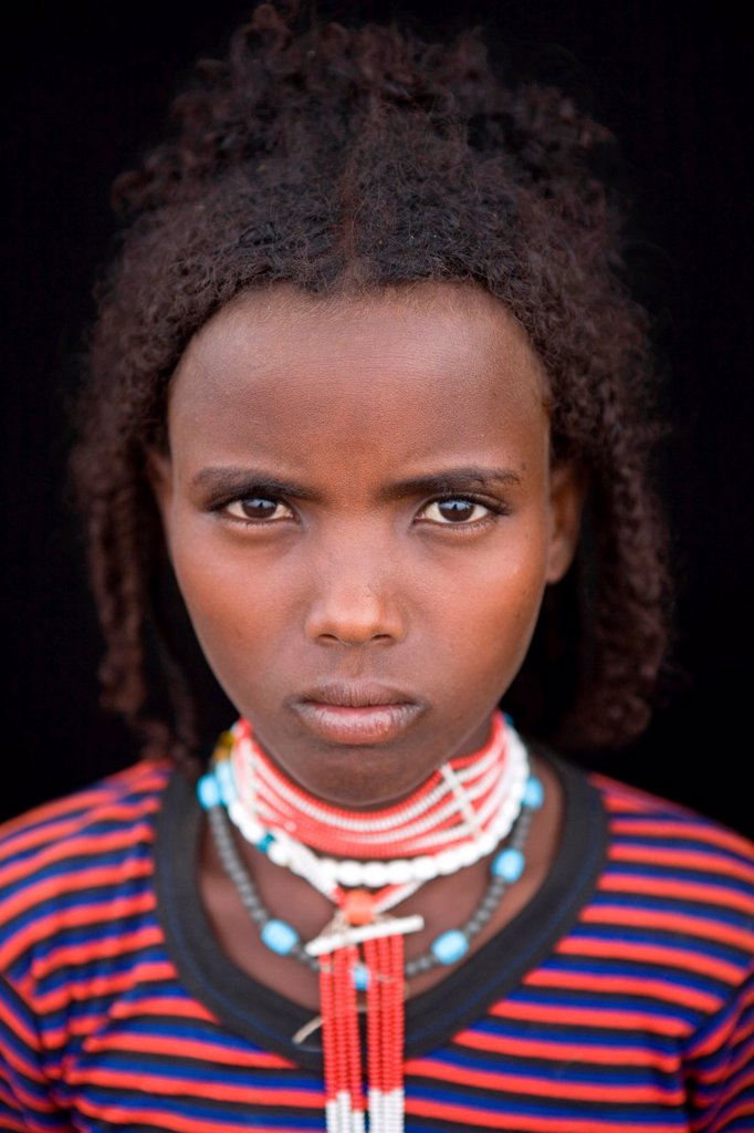 Stock Photo: 1566-1066612 Portrait of a villager in Awash, Afar region in Ethiopia