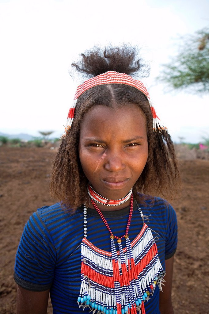 Stock Photo: 1566-1066971 Portrait of a villager in Awash, Afar region in Ethiopia