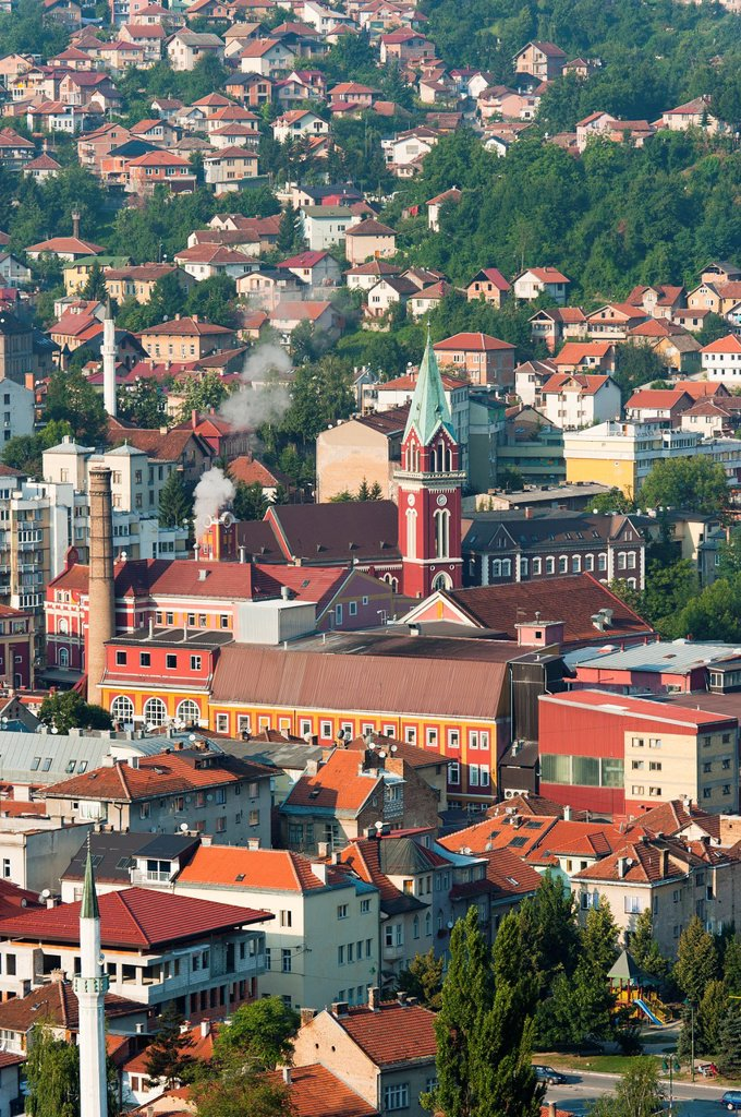 Stock Photo: 1566-1067282 City of Sarajevo, capital of Bosnia and Herzegovina, Europe