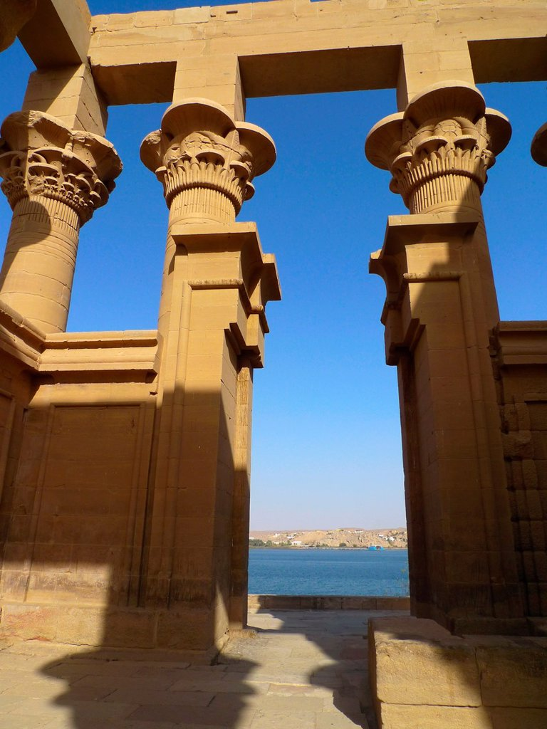 Stock Photo: 1566-1067544 Philae Temple Isis Temple  Aswan  High Egypt