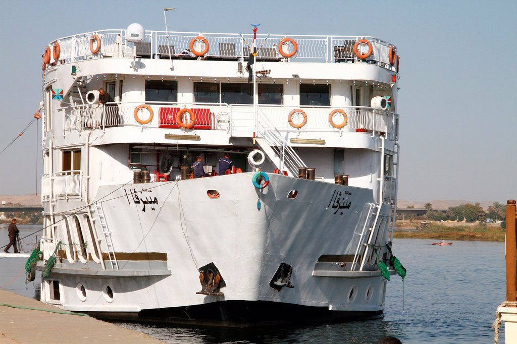 Stock Photo: 1566-1067826 Cruise on nile river , egyptian
