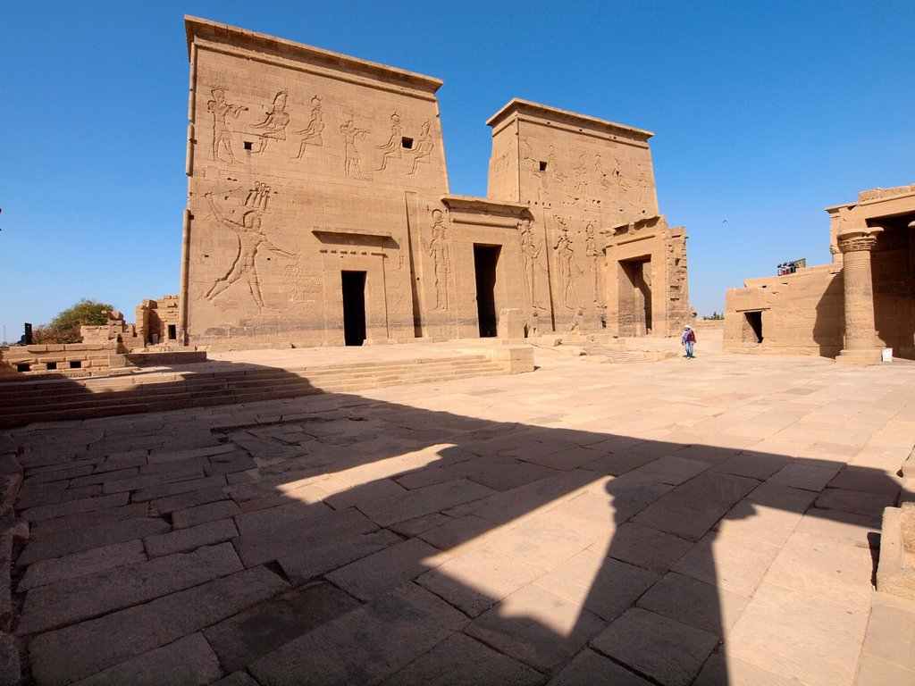 Stock Photo: 1566-1067892 Philae, Isis Temple, Aswan, Upper Egypt