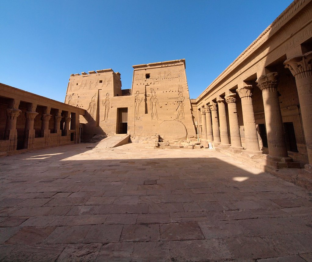 Stock Photo: 1566-1067893 Philae Temple Isis Temple  Aswan  High Egypt