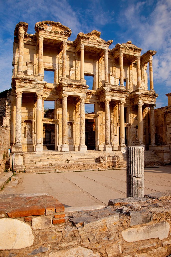 Stock Photo: 1566-1068111 Ruins of the Library of Celsus in ancient city of Ephesus, near Selcuk Turkey