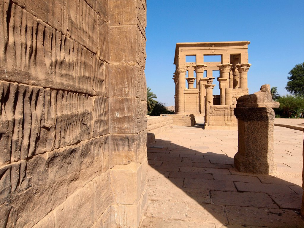 Stock Photo: 1566-1068576 Philae, Isis Temple, Aswan, Upper Egypt