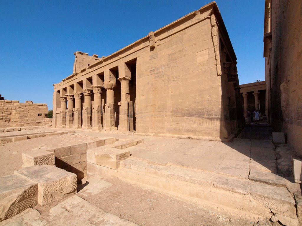 Stock Photo: 1566-1068578 Philae, Isis Temple, Aswan, Upper Egypt