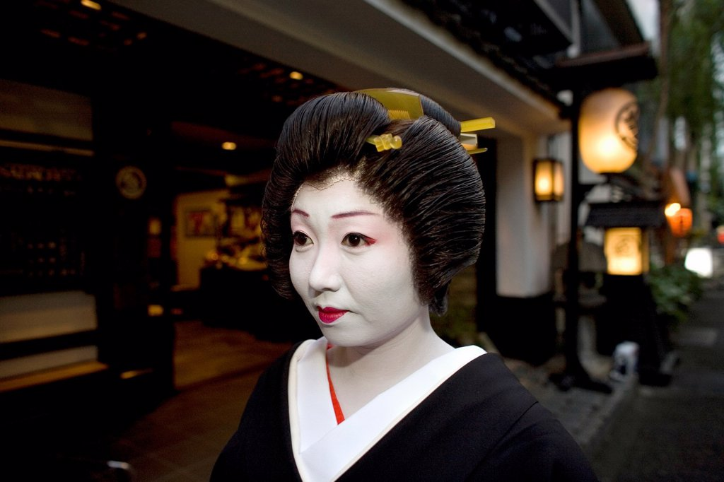 Stock Photo: 1566-1068700 Geishas are famous in Japan The concept has a long history and goes back several centuries where geishas were for entertainment for rich japanese people They are well trained in dance, language, music instruments and etiquette Nowadays, geishas still p