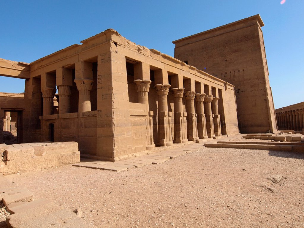Stock Photo: 1566-1070011 Philae, Isis Temple, Aswan, Upper Egypt