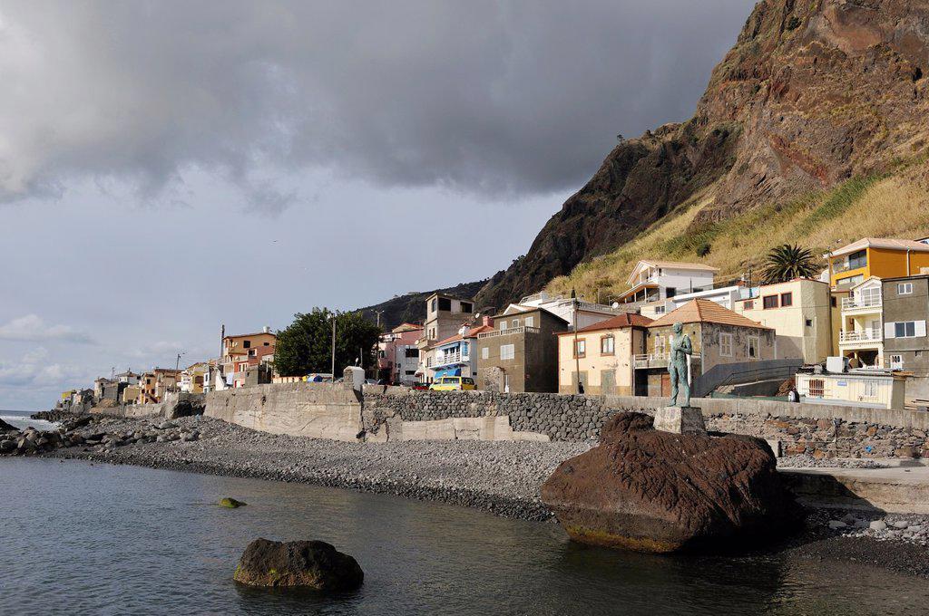 harbour of Paul do Mar, Madeira island, Atlantic Ocean, Portugal : Stock Photo