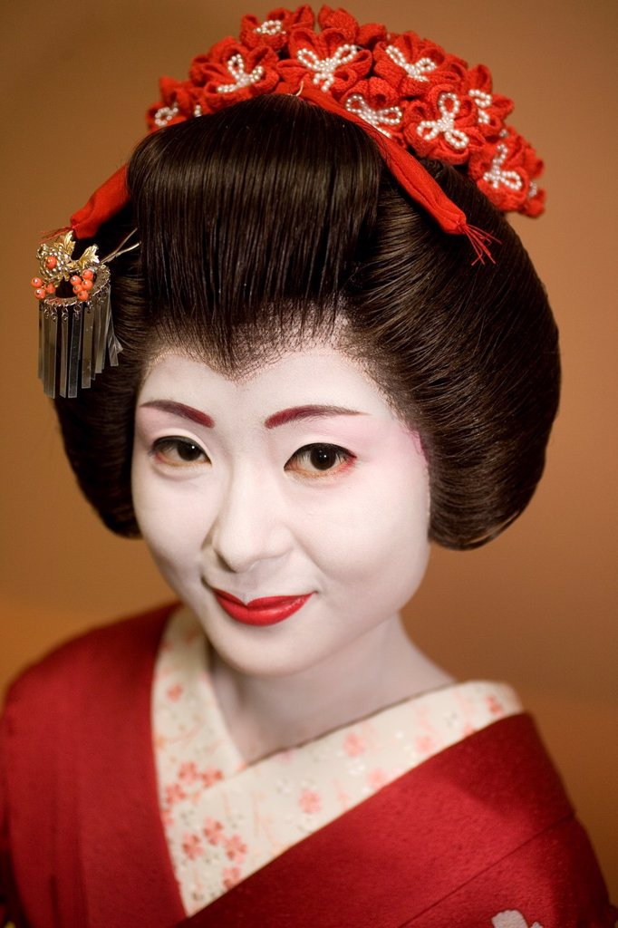 Stock Photo: 1566-1070513 Geishas are famous in Japan The concept has a long history and goes back several centuries where geishas were for entertainment for rich japanese people They are well trained in dance, language, music instruments and etiquette Nowadays, geishas still p