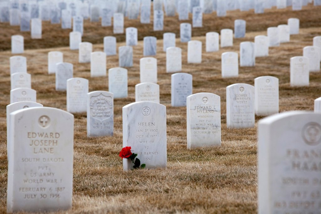 Stock Photo: 1566-1071183 Sturgis, South Dakota - Black Hills National Cemetery