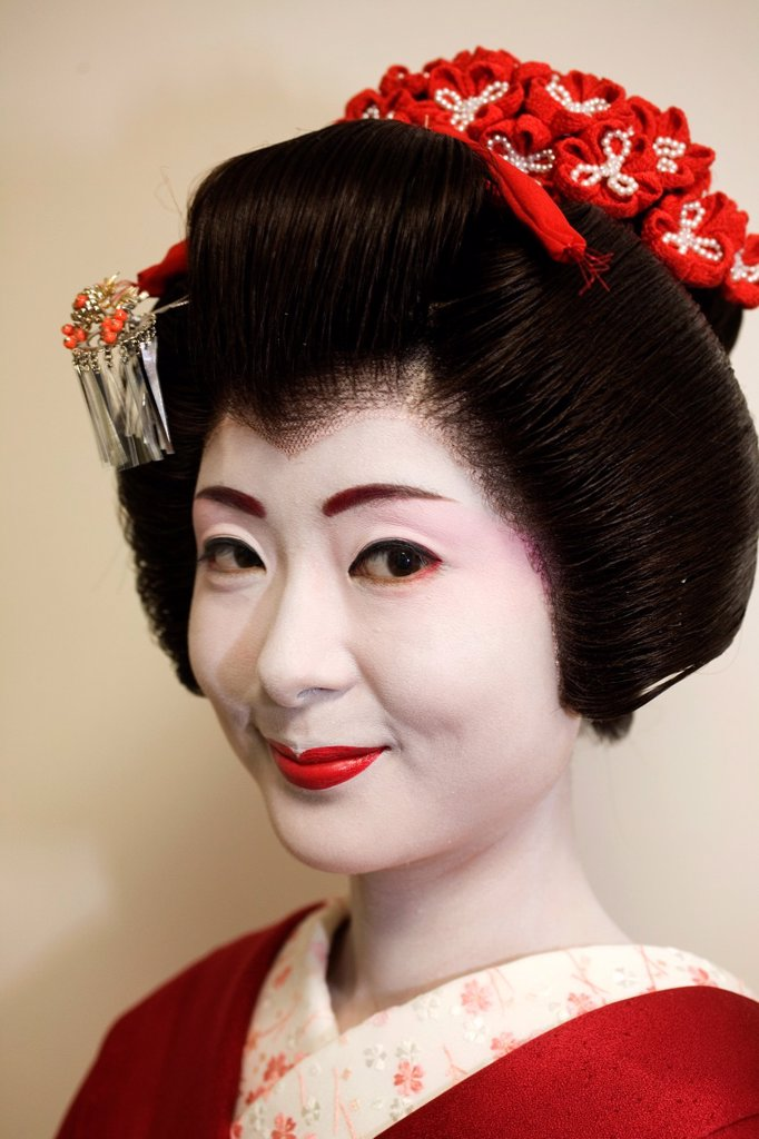 Stock Photo: 1566-1071209 Geishas are famous in Japan The concept has a long history and goes back several centuries where geishas were for entertainment for rich japanese people They are well trained in dance, language, music instruments and etiquette Nowadays, geishas still p