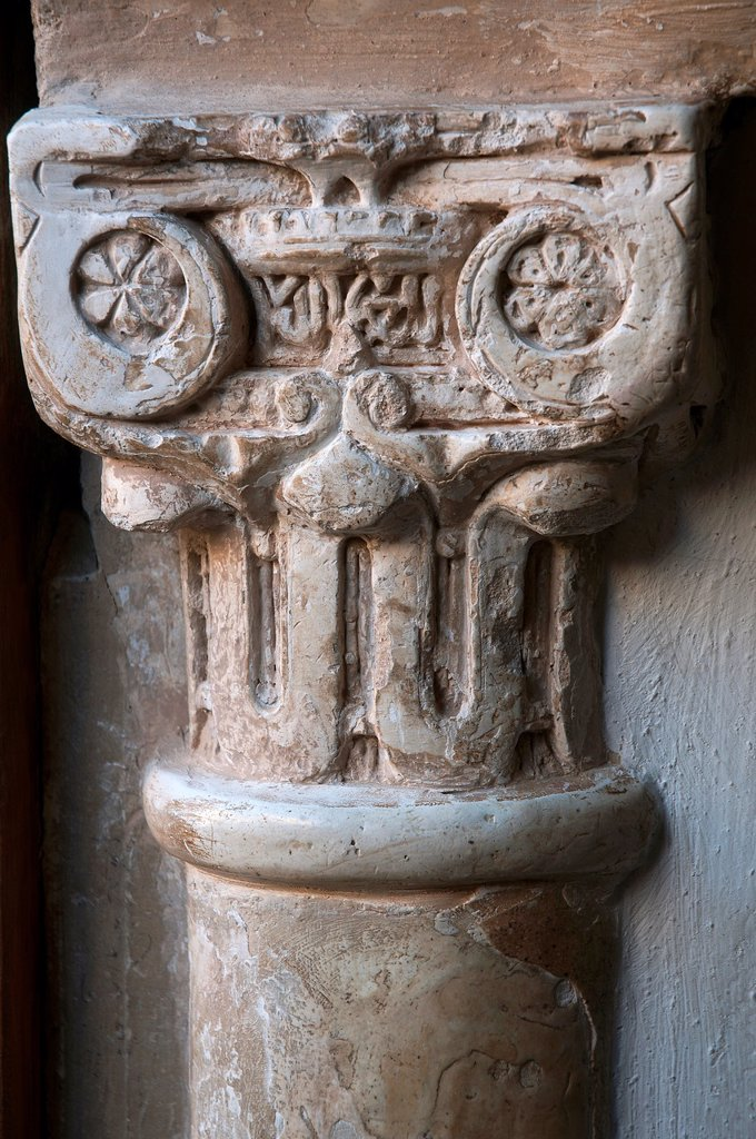 Stock Photo: 1566-1072022 Patio de los Leones- column and capital detail  The Alhambra  Granada  Spain
