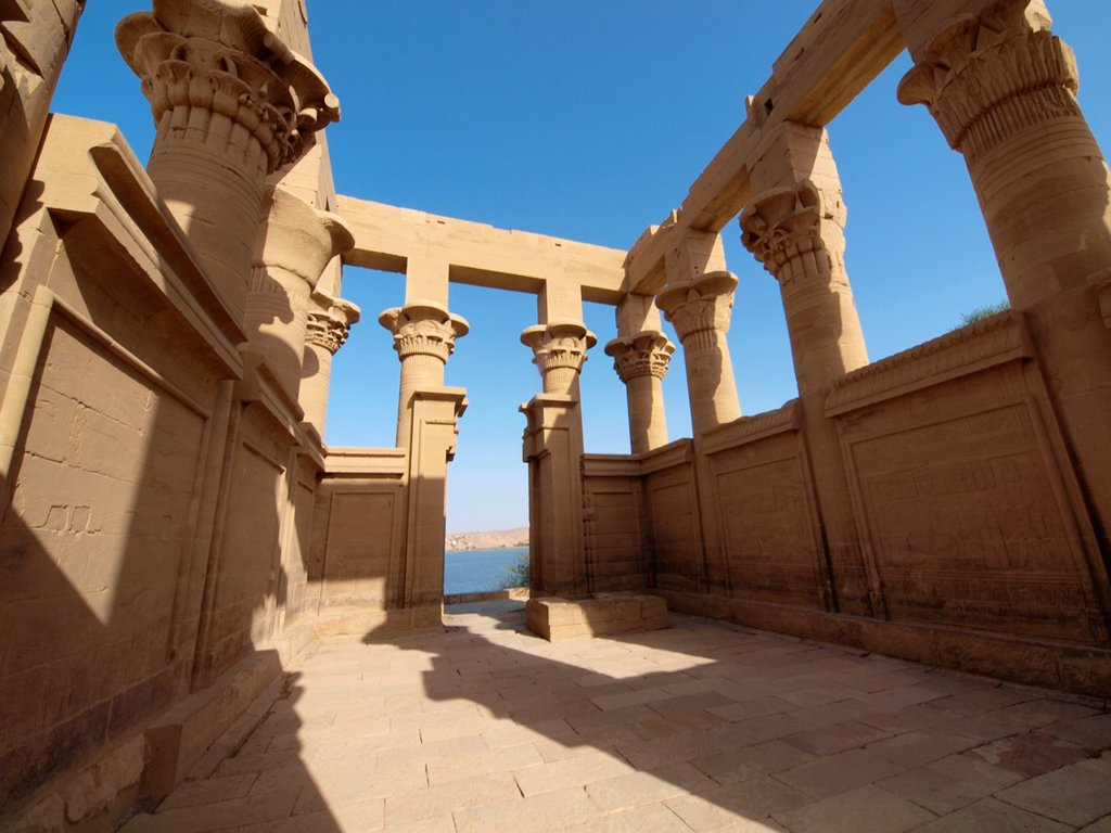 Stock Photo: 1566-1072147 Philae, Isis Temple, Aswan, Upper Egypt