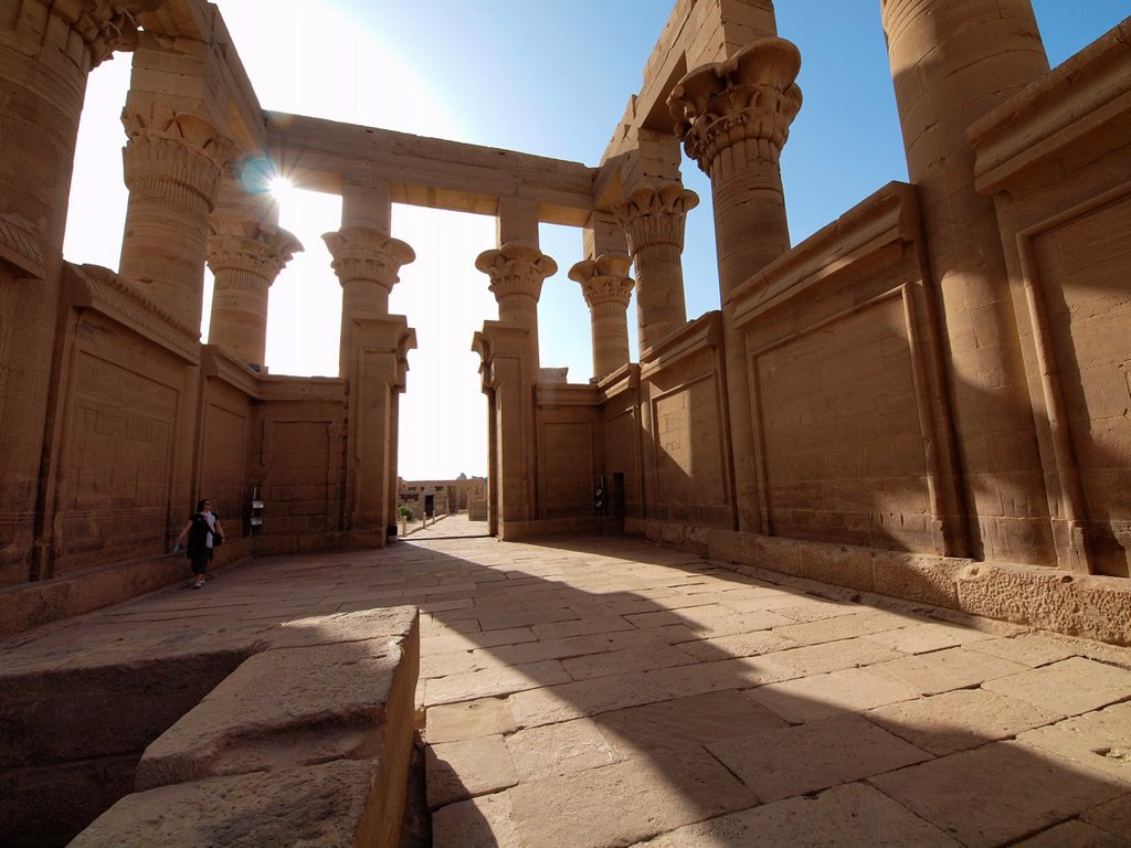 Stock Photo: 1566-1072148 Philae, Isis Temple, Aswan, Upper Egypt