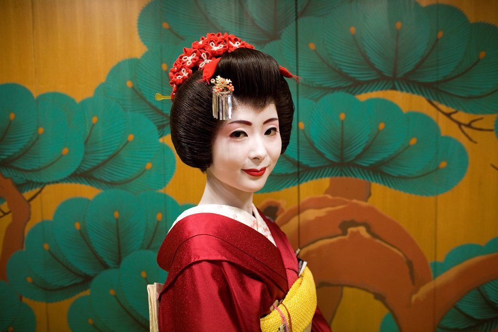Stock Photo: 1566-1072264 Geishas are famous in Japan The concept has a long history and goes back several centuries where geishas were for entertainment for rich japanese people They are well trained in dance, language, music instruments and etiquette Nowadays, geishas still p