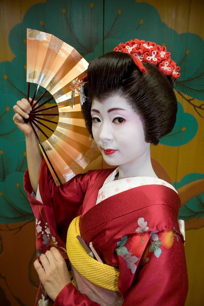 Stock Photo: 1566-1072265 Geishas are famous in Japan The concept has a long history and goes back several centuries where geishas were for entertainment for rich japanese people They are well trained in dance, language, music instruments and etiquette Nowadays, geishas still p