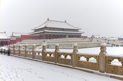 The Forbidden City in Winter  Beijing  China. : Stock Photo