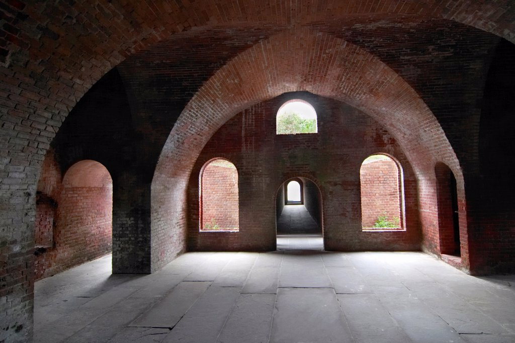 Stock Photo: 1566-1073063 Fort Clinch built 1812-1868 State Park on Amelia Island in northeast Florida  On the National Register of Historic Places