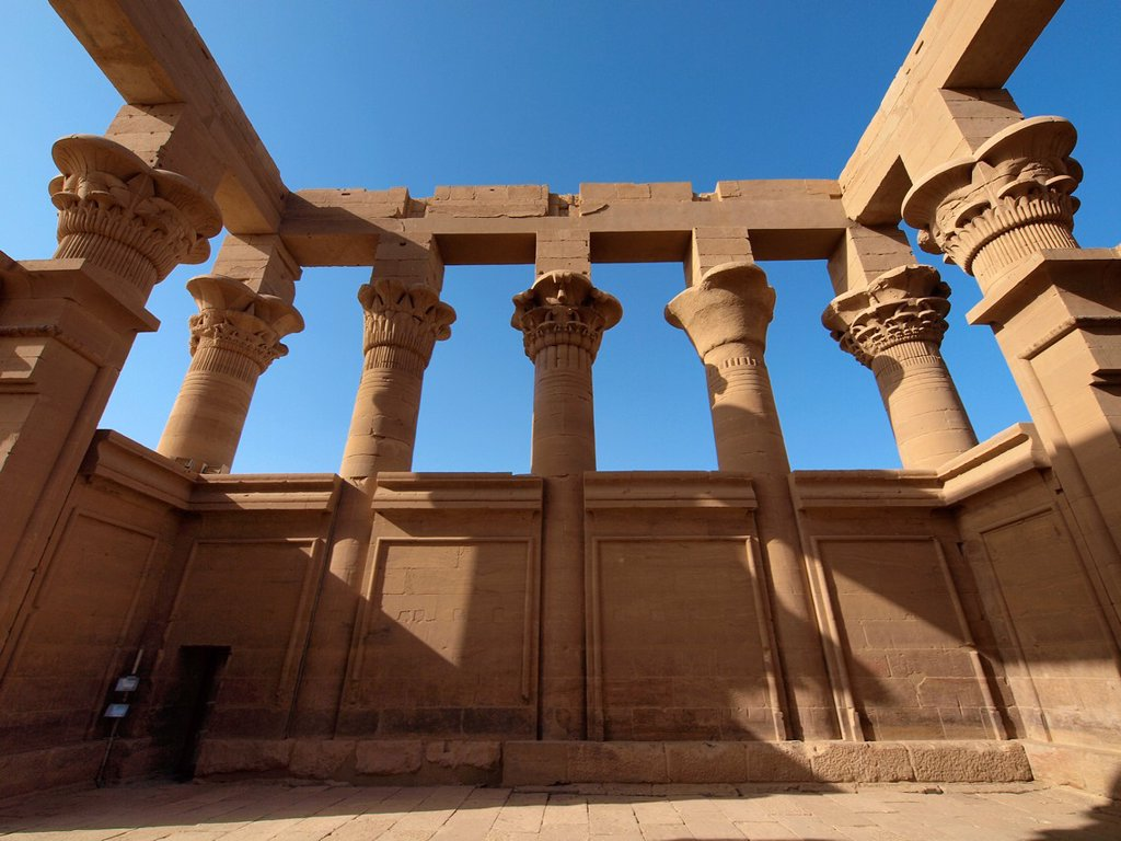 Stock Photo: 1566-1073174 Philae, Isis Temple, Aswan, Upper Egypt