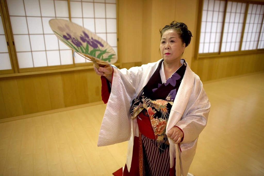 Stock Photo: 1566-1073283 Geishas are famous in Japan The concept has a long history and goes back several centuries where geishas were for entertainment for rich japanese people They are well trained in dance, language, music instruments and etiquette Nowadays, geishas still p