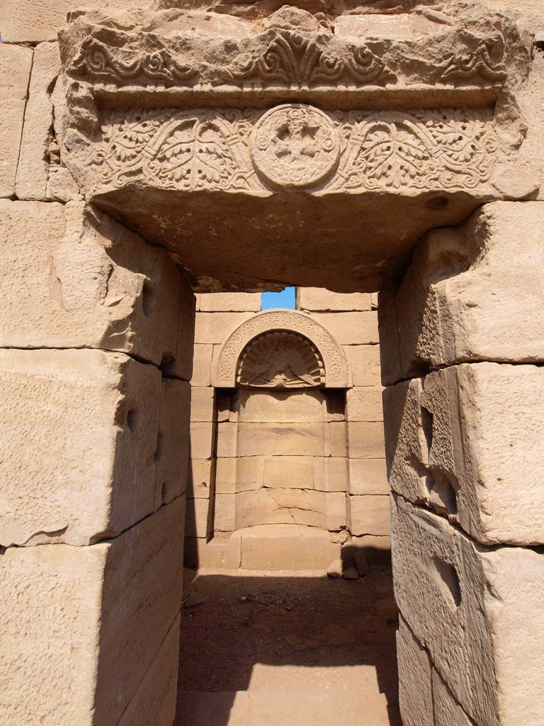 Stock Photo: 1566-1073523 Dendera temple dedicated to Hathor goddess. Upper Egypt.