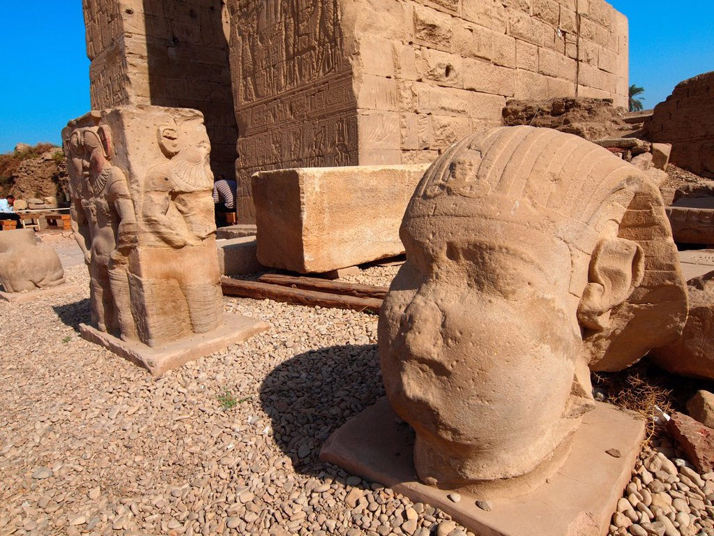 Stock Photo: 1566-1073869 Dendera temple dedicated to Hathor goddess. Upper Egypt.