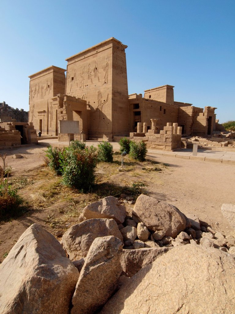 Stock Photo: 1566-1074532 Philae, Isis Temple, Aswan, Upper Egypt