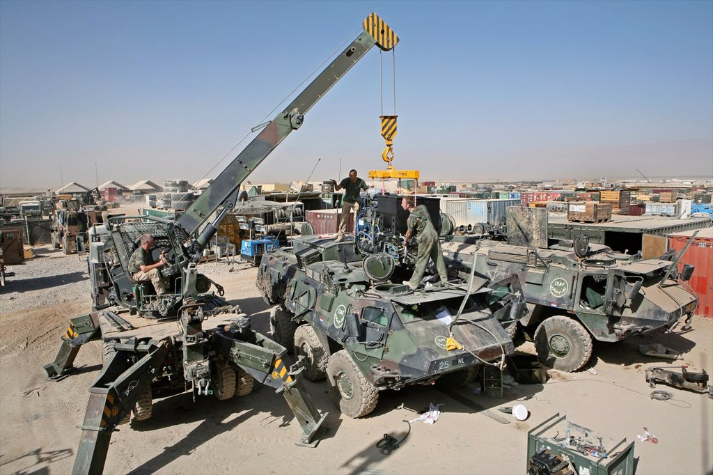 Dutch troops in Afghanistan Uruzgan : Stock Photo