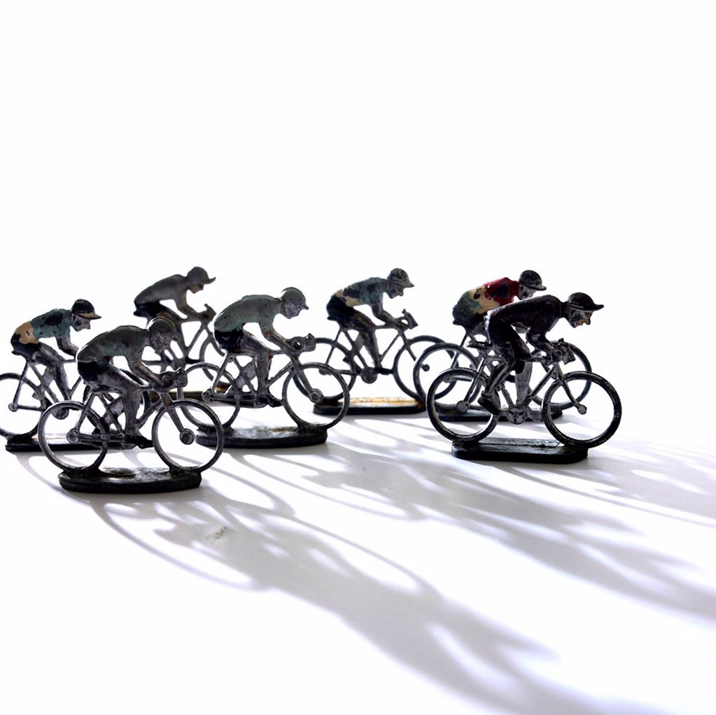 Stock Photo: 1566-1075000 Cyclists, figurines
