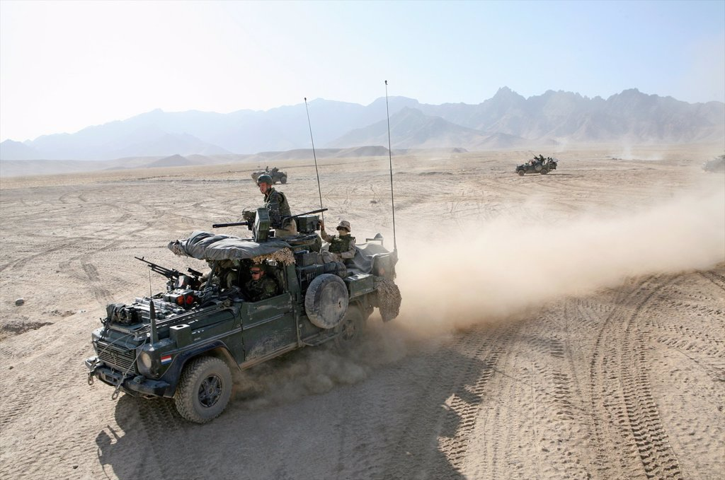 Dutch military in Uruzgan as part of the ISAF intervention : Stock Photo