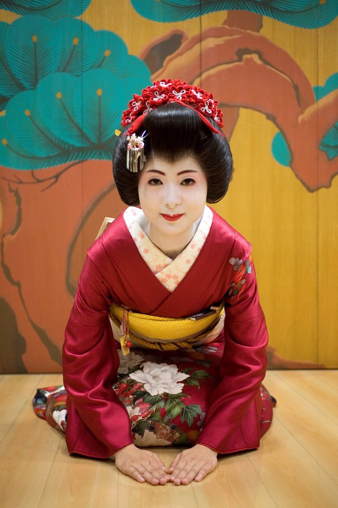 Stock Photo: 1566-1077792 Geishas are famous in Japan The concept has a long history and goes back several centuries where geishas were for entertainment for rich japanese people They are well trained in dance, language, music instruments and etiquette Nowadays, geishas still p