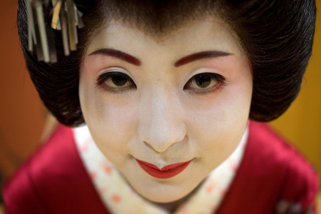 Stock Photo: 1566-1077793 Geishas are famous in Japan The concept has a long history and goes back several centuries where geishas were for entertainment for rich japanese people They are well trained in dance, language, music instruments and etiquette Nowadays, geishas still p