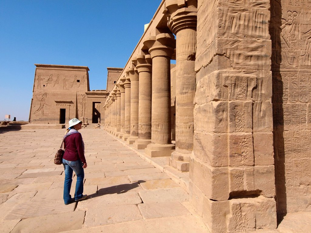 Stock Photo: 1566-1078020 Philae, Isis Temple, Aswan, Upper Egypt