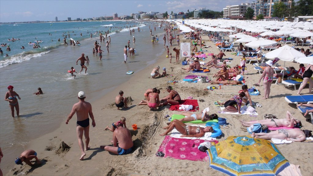 Stock Photo: 1566-1078471 The Black Sea, Bulgaria, is a popular tourist destination. The Black Sea, Bulgaria, is a popular tourist destination for Bulgarians, Russians and British people. There is heath, sun, sea More and more hotels are being built. The Bulgarian mafia controls the tourist business.