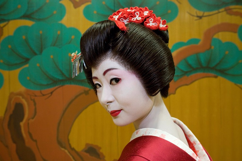 Stock Photo: 1566-1078826 Geishas are famous in Japan The concept has a long history and goes back several centuries where geishas were for entertainment for rich japanese people They are well trained in dance, language, music instruments and etiquette Nowadays, geishas still p