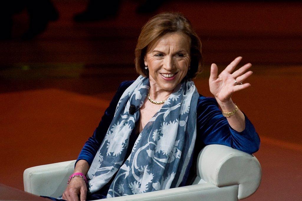 Milan 18 03 2012  Telecast ´Che tempo che fa´ RAI3  Elsa Fornero : Stock Photo