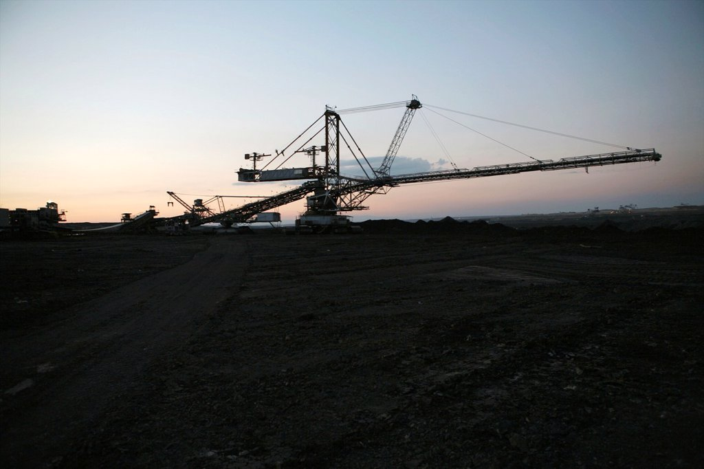 Maritsa Iztok is the largest coalmine in Bulgaria The coals are located 60 meter underground and the layer of coal is around 20 meter The coals are used for generating electricity by burning them The coalmine provides 85 of the country´s energy The US is : Stock Photo