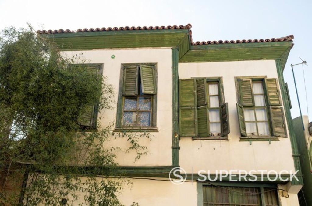 Ottoman houses in Kaleiçi historic quarter, Antayla, Turkey : Stock Photo